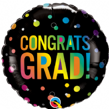 "Congrats Grad Ombre Dots Foil Balloon (18"") 1pc"